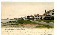 Saybrook Conn CT -FENWICK BEACH AT SAYBROOK POINT -Handcolored Postcard