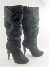 "Michael Antonio Black 5""Stiletto High Heel Round Toe Sexy Knee Boot Size 10"