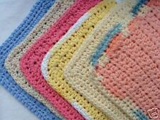 Hand-Crocheted Dish Cloths 100% Cotton - Lot of 6