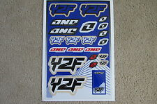 ONE INDUSTRIES YAMAHA YZ YZF UNIVERSAL GRAPHICS STICKERS 12X18 SHEET  DECALS