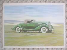 1935 AUBURN Automobile Watercolor ? Print