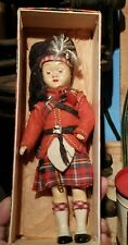 Vintage Scottish Doll boy in Kilt With Bagpipes