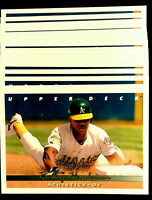 1993 Upper Deck RICKEY HENDERSON ~ 20 CARDS LOT ~  HOF A HALL OF FAME INDUCTEE
