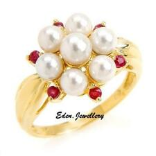 Pearl Ruby Yellow Gold Fine Jewellery