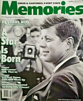 Memories Magazine 1990 Simon Garfunkel Kent State JFK Kennedy No Label Near Mint