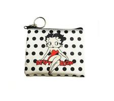 Betty Boop White With Black Polka Dots Key Chain Coin Purse - Licensed New