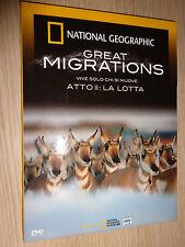 DVD N°2 NATIONAL GEOGRAPHIC GREAT MIGRATIONS VIVRE SEULEMENT CHI SI DÉPLACE LE