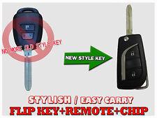 New Style Flip Key For Toyota 14-2016 Yaris 2 Button Remote Immobilizer Key Fktc
