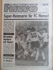 FUWO 46 - 15.11. 1988 3* EC Sampdoria Genua-Jena 3:1 KSV Waregem-Dresden 2:1