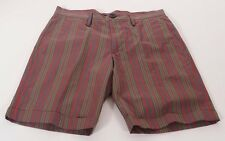 Marc By Marc Jacobs M2113010 Men's Red Multi Striped Cuffed Dress Shorts 28