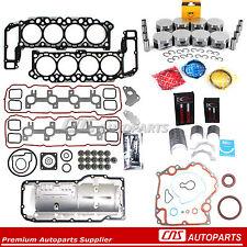 99-03 For Dodge Jeep 4.7L 287 Full Gasket Piston Bearing Ring Engine Rebuild Kit