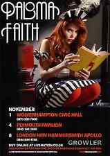 PALOMA FAITH 2010 TOUR FLYER - CONCERT UK LIVE - GENUINE MUSIC PROMO