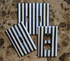 ❤️Switch Plate Cover made with Mackenzie Childs Courtly Stripe Paper❤️