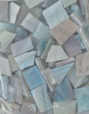 Hand Cut VARIEGATED BLUE Stained Glass Mosaic Scrap Pack, 100 PIECES