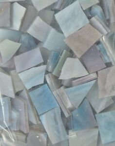 Mosaic Glass: VARIEGATED BLUE, 5 ounce Stained Glass Pack (about 100 Pieces)