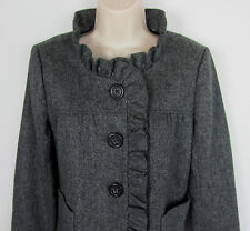 J. Crew 100% Wool tweed Jacket Button front lined Herringbone Women Size 6