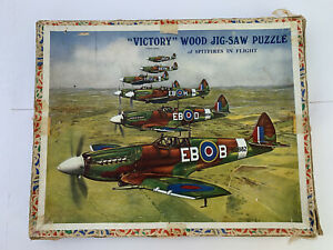 Victory Wooden Jigsaw 'Spitfires in Flight'