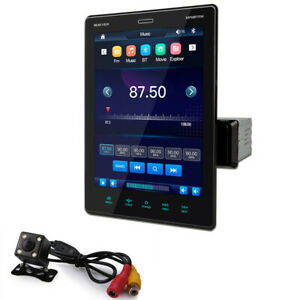 1 DIN Car MP5 Player 9.5in Touch Screen Stereo Radio Bluetooth USB FM AUX w/Cam