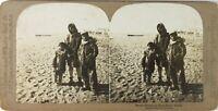 USA ÉTATS-UNIS Alaska Native Esquimaux Photo Stereo Vintage Argentique PL60L11