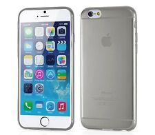 4.7 inch Soft Flexible Clear TPU Protective Gel Case for iPhone 6 6S Smoke Grey