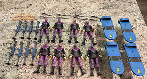 Lot Of 8 NECA Teenage Mutant Ninja Turtles Turtles In Time Foot Soldiers Army