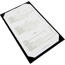 Winco LMS-814BK, Black Single View Menu Cover for 8.5x14-Inch Inserts