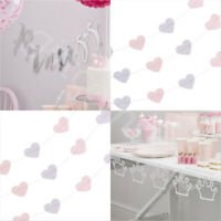 Silver Princess Party Bunting Banner Garland Decorations Girls Birthday Supplies