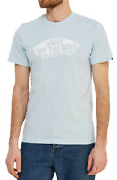 VANS Off The Wall New Men's Print Logo T-Shirt Top Tee S M L XL XXL Baby Blue
