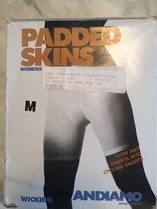 Andiamo Women's Padded Skins: White, Medium