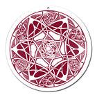 Fenster Glas Bild Nr. 45. Mandala 1. rot Ø10cm Licht Fänger keltisches Symbol