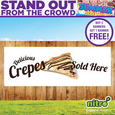 More details for delicious crepes sold here pvc banner outdoor ready 2 hang
