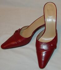 Coach Womens Cranberry Red Heels 7 1/2 7.5 B Judith Slides Pointed Toe Shoes