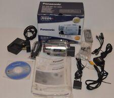 Coffret Panasonic NV-GS180 3CCD Caméscope Caméra Vidéo Numérique Mini DV Cassette SD USB