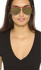 Victoria Beckham VBS90 C14 Unisex Tomato Red Leather Aviator Sunglasses