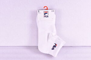 Women's Fila Heritage Quarter Socks Aerated Mesh Body - White - 3 Pack