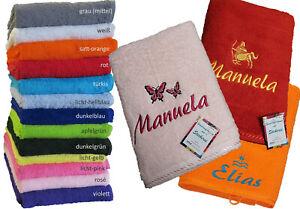 PREMIUM Handtuch mit Namen/Motiv bestickt (oder Waschlappen,Gästetuch,Duschtuch)