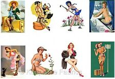 Vintage Pin Up Girls Fabric Quilt Block Lot FrEE ShiPPinG WoRld WiDE (K20