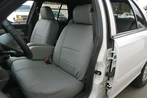 LINCOLN TOWN CAR 1990-2011 IGGEE S.LEATHER CUSTOM SEAT COVER 13 COLORS AVAILABLE