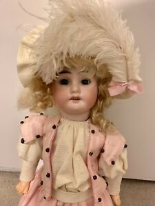 """Armand Marseille bisque head doll head marked 1894 Germany 16"""" antique / vintage"""