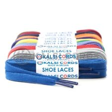 FLAT SHOE LACES PREMIUM COTTON FEEL FOR ANY FOOTWEAR 1 PAIR BOOT TRAINER SPORTS