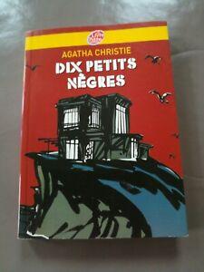 Livre Dix Petits Nègres d'Agatha Christie - très bon état