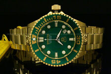 Invicta 47mm Grand Diver Gen II Auto 3D Case GREEN DIAL Gold Tone Bracelet Watch