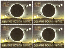 SOLAR ECLIPSE 2019, CHILE-ARGENTINA, BLOCK OF 4, SHIPPED FROM THE USA, MNH