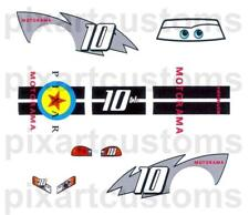 C-15 FOR DISNEY CARS CUSTOM LIGHTNING McQUEEN MOTORAMA 10th DECAL SET