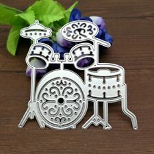 Drum Set Metal Cutting Die Scrapbooking Embossing Dies Stencil Card Crafts