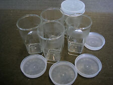10x Clear Plastic Small Boxes Container-snapon Lids DIY Crafts 2.5inH x 1.25inW