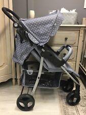My Babiie Katie Piper MB30 Grey Triangles Stroller Pushchair - NEW SUMMER RANGE