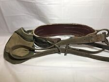 Vtg Bell System Phone Lineman's Climbing Belt Harness Safety Strap W/ Canvas Bag