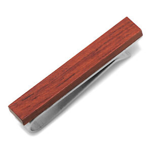 Ox and Bull Trading Co. Rosewood Stainless Steel Tie Bar