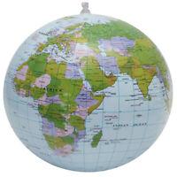 38cm Inflatable Globe World Earth Ocean Map Ball Geography Learning Beach QA